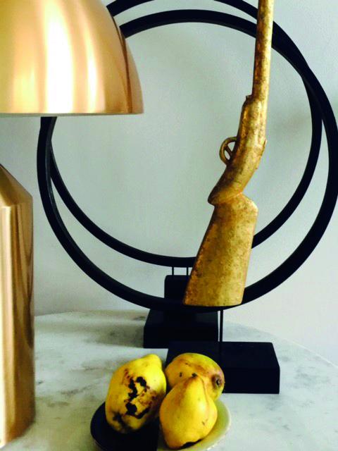 Gouden compositie Vintage Objects